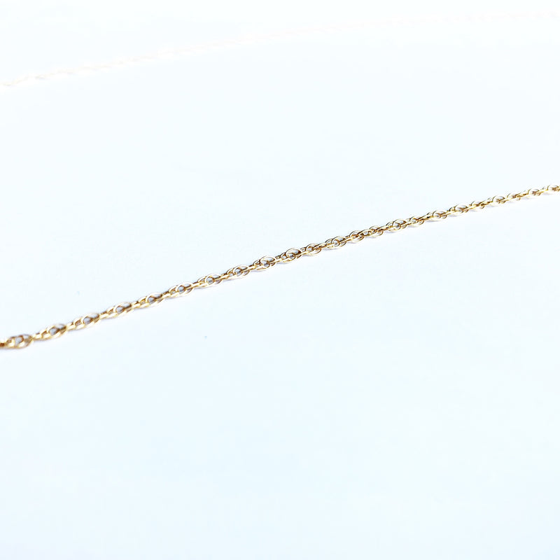 Gold Fill Twist Layering Chain Necklace