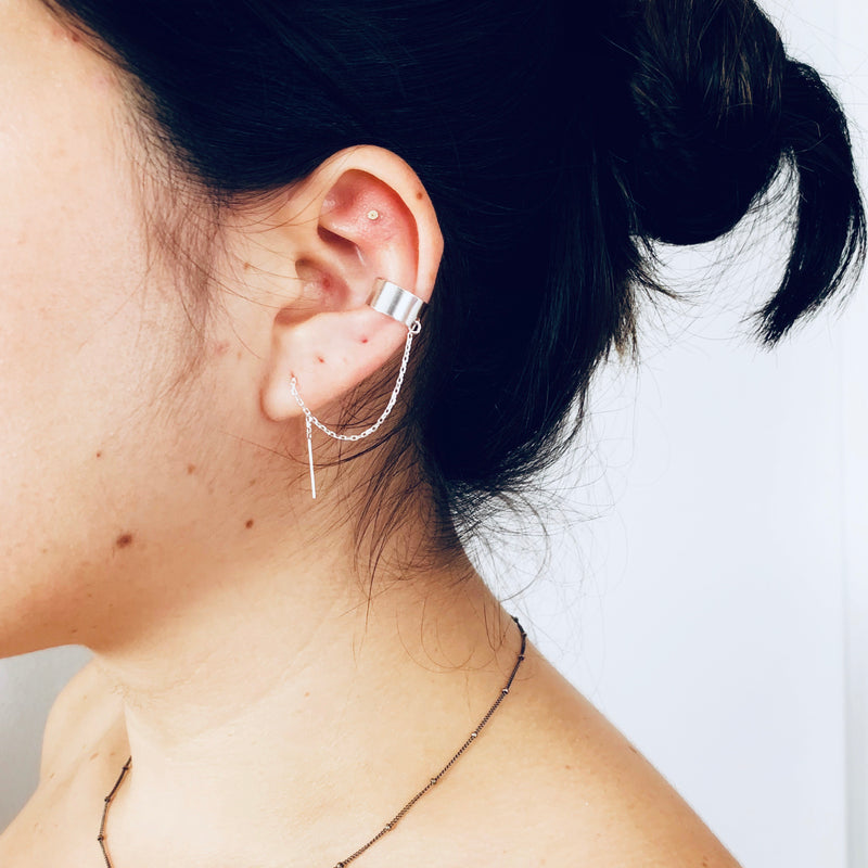 Ear cuff Threader in Sterling Silver