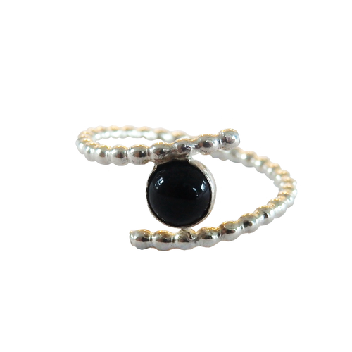 Metrix Jewelry - Sterling Silver and Onyx Ring