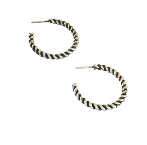 Metrix Jewelry - Twist Hoops (in Sterling Silver)