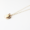 14 Karat Gold Pebble Necklace