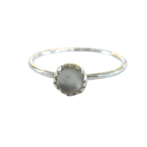 Metrix Jewelry - Sterling Silver Shell Stacking Ring