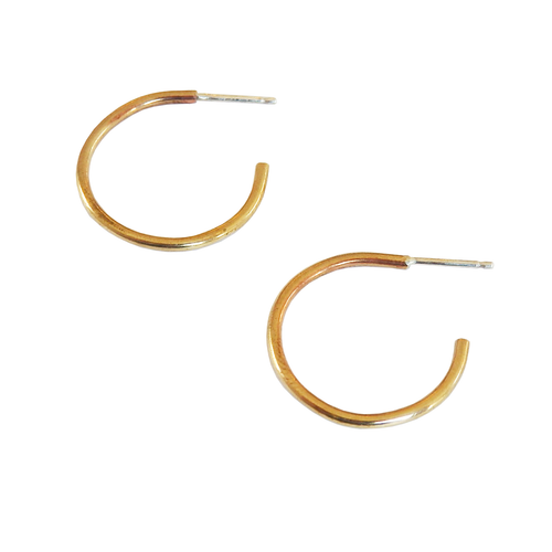 Metrix Jewelry - Brass Hoops (small or large)