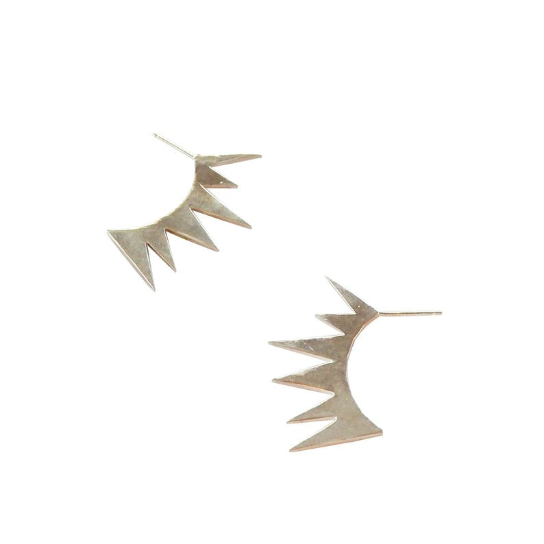 Spiked Fan Earrings