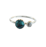 Metrix Jewelry - Turquoise and Sterling Silver Ball Stacking Ring
