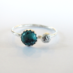 Turquoise and Sterling Silver Ball Stacking Ring