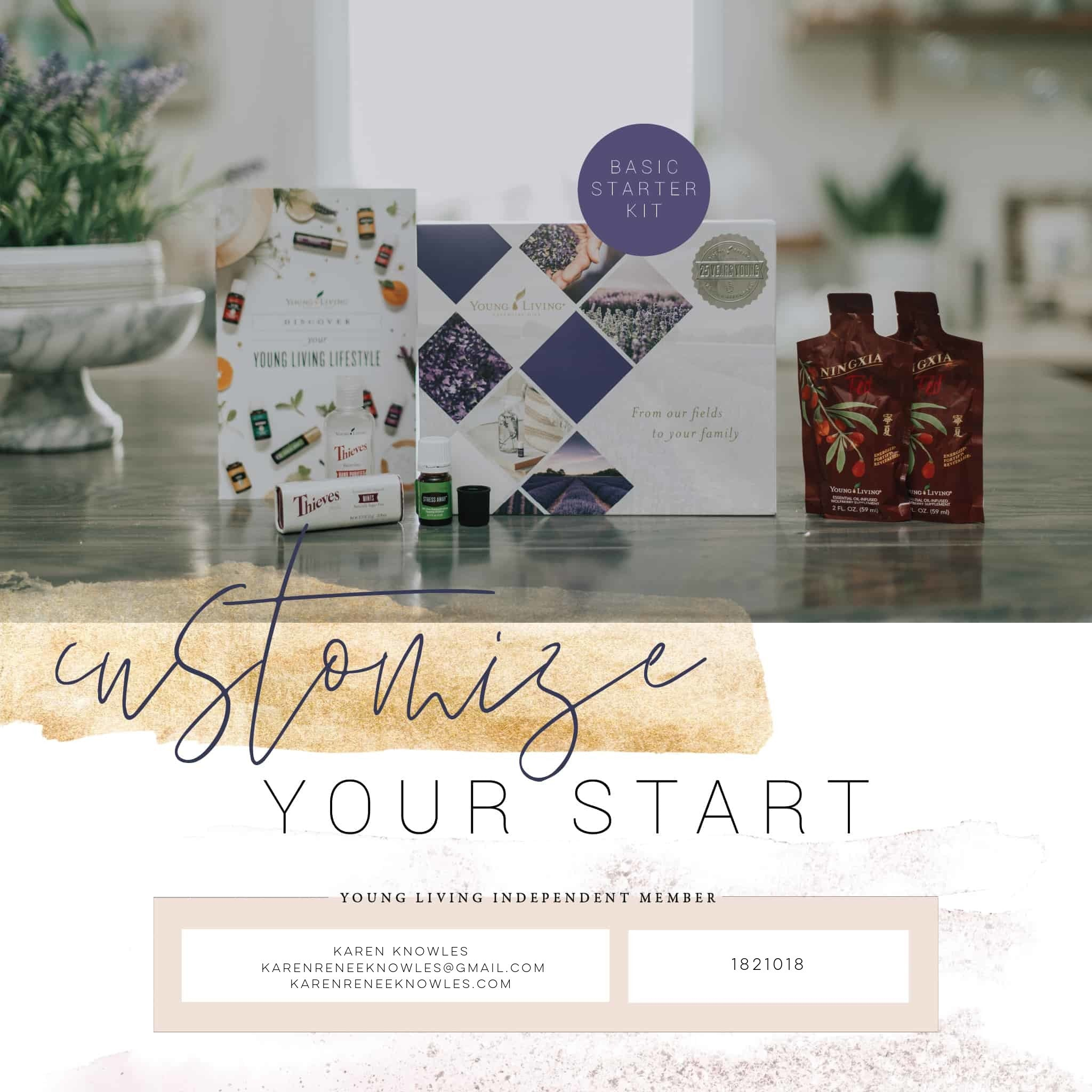 Young Living Basic Starter Kit Membership Options to Customize Your Experience