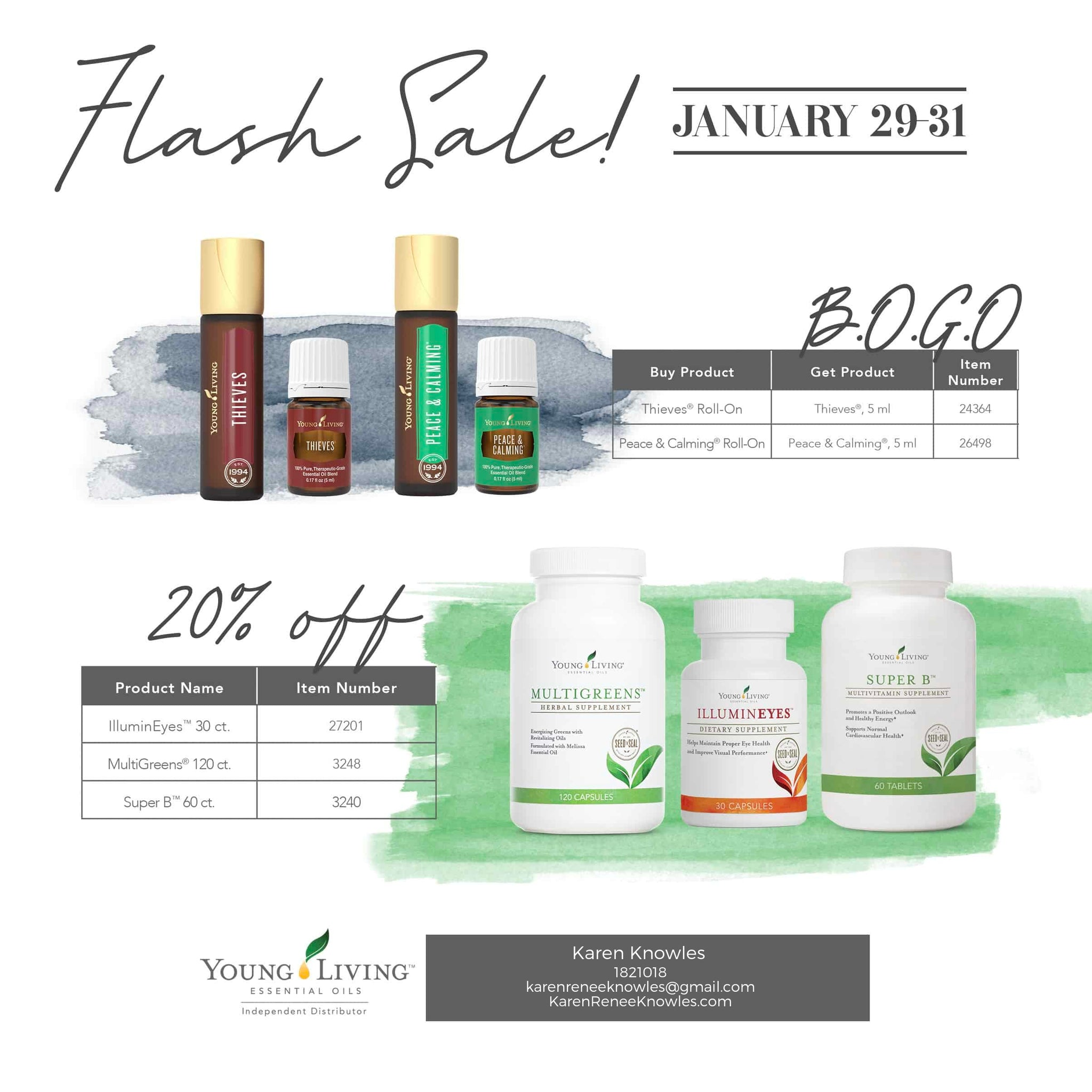 Don't miss out on YOUNG LIVING'S FLASH SALE!! Ends the 31st