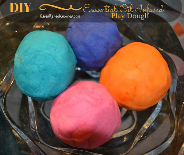 Simple DIY Essential Oil Infused Play Dough