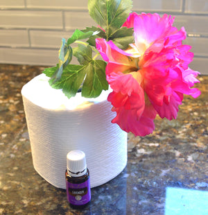 DIY Bathroom Freshener using toilet paper roll and essential oil