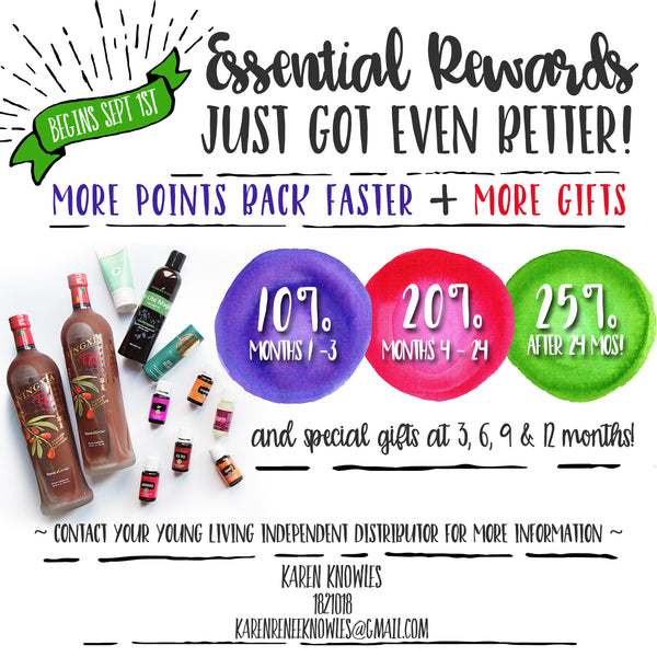 September Young Living Specials and Essential rewards update :)