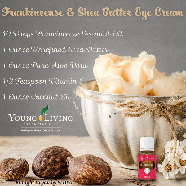 DIY Shea Butter & Frankincense Eye Cream