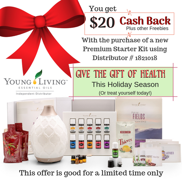 Holiday Promo Special -- $20 Cash Back on Premium Starter Kits!