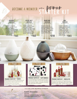 Young Living Options and Oils Printouts for the Starter Kits