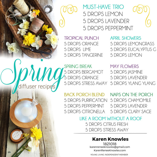 Diffuser Recipes for Spring!