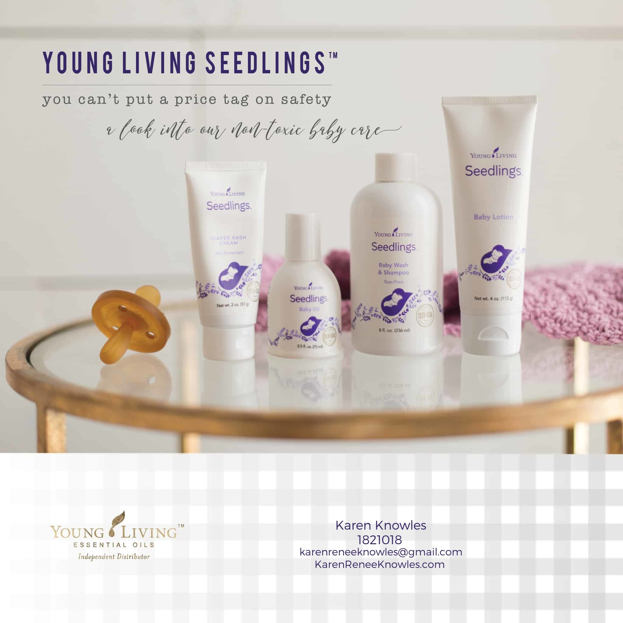 Seedlings- Non Toxic Baby Care Exclusively by Young Living