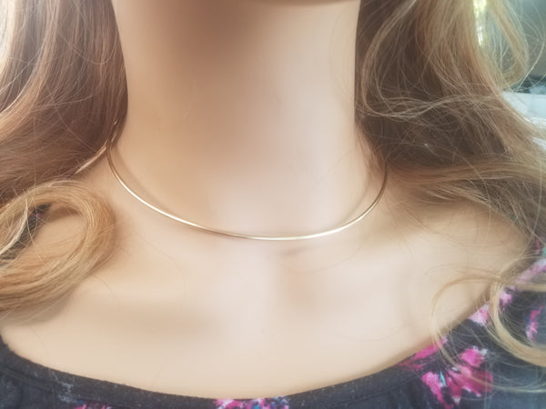 14 gauge 14k yellow gold filled Neckwire, choker, wire necklace, Custom Neck Wire