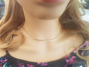 16 gauge 14k Yellow Gold Filled Neckwire, choker, wire necklace, Custom Neck Wire