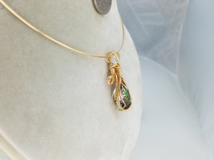 Magnificent Sparkly Faceted Mystic Topaz Hand Sculpted in 14kt Gold Filled Wire