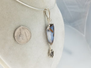 Saginite & Smokey Topaz Hand sculpted in Sterling Silver .925 Argentium anti tarnish wire