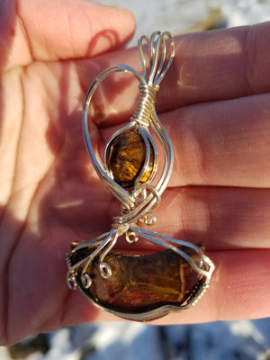 Pietersite Gemstones Hand Sculpted in Argentium Silver (tarnish resistant) Wire