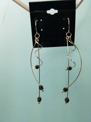 Unique Argentium Silver (tarnish resistant) Ecclectic Dangle Beaded Earrings