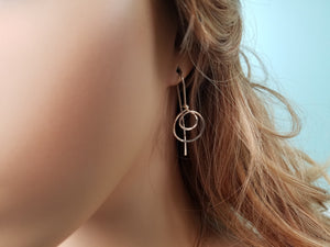 14kt Gold Filled Stylish Double Loop Threader Earrings