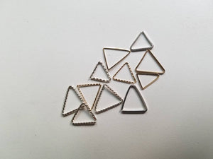 20 gauge Twisted Wire- Triangular Shape Earring -Cartilage Hoop, Nose Septum, Conch, Tragus, Rook, Daith, Nose piercing, Lip Hoop
