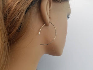 Open Style Minimalist Threader Earrings hand sculpted in 14kt Gold Filled Wire