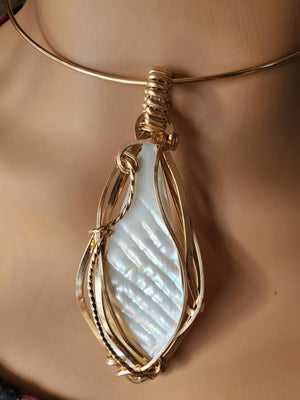Chatoyant Mother of Pearl Pendant