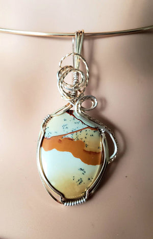 Landscape Jasper in 14kt gold filled and Sterling Silver Argentium .925 wire