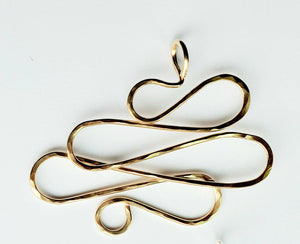 Yellow Gold Filled Wire Pendant 2 (now known as the Oops Pendant)