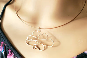 Rose Gold Filled Wire Pendant (now known as the Oops Pendant)