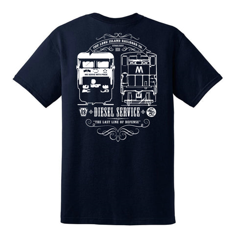 LIRR DIESEL SERVICE Short Sleeve T-Shirt (Navy Blue)