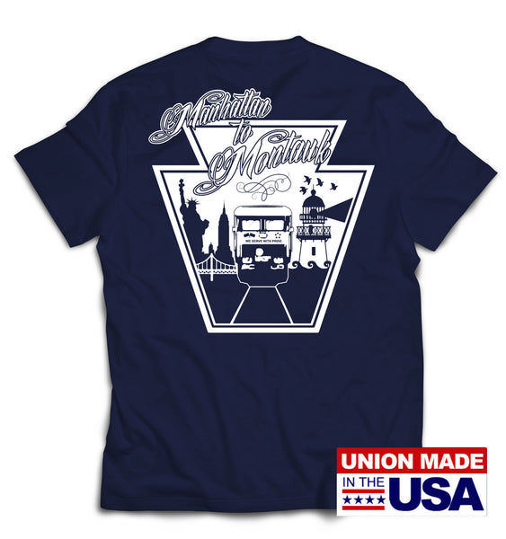 UNION MADE IN USA LIRR EAST END SHORT SLEEVE T-SHIRT