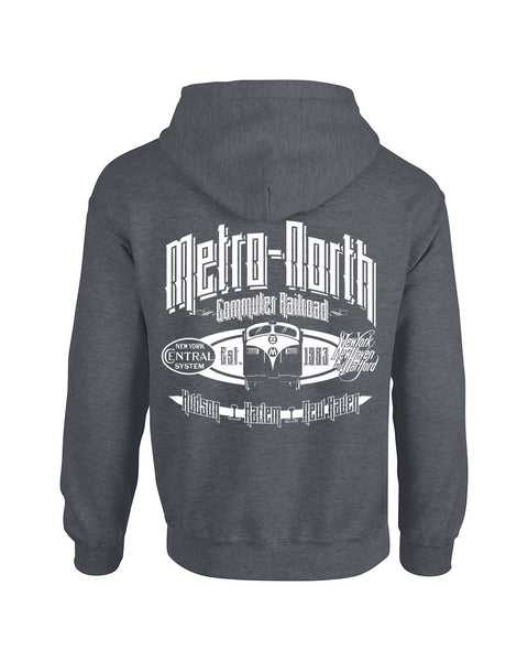 METRO-NORTH RAILROAD RETRO FL9 HOODIE