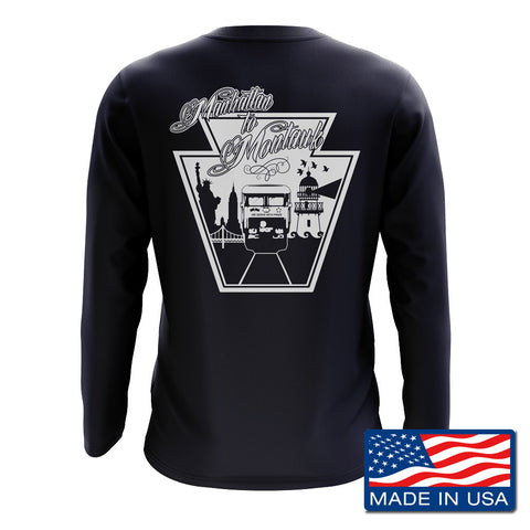 MADE IN USA LIRR EAST END LONG SLEEVE T-SHIRT