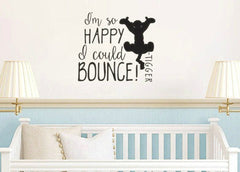 Tigger So Happy I Could Bounce Vinyl Wall Decal Sticker