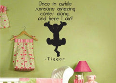 Lucky Girl Decals Wall Decor Sticker Quote Tigger Once In Awhile Someone Amazing Comes Along Vinyl Wall Decal Sticker
