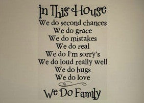 In This House We Do Family Wall Decal