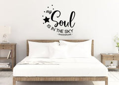 "Lucky Girl Decals Wall Decor Sticker Quote Lucky Girl Decals Wall Decor Sticker Quote Lucky Girl Decals Shakespeare My Soul Is In The Sky Vinyl Wall Decal Sticker 22.3"" W X 21"" H - Lucky Girl Decals"