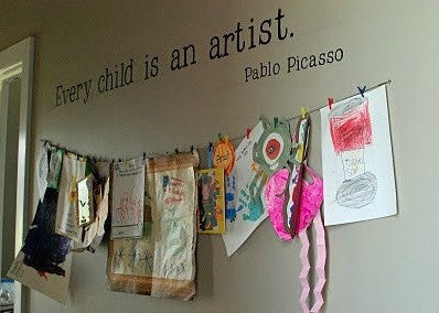 "Every Child Is An Artist Wall Decal Sticker 49""w x 4""h"