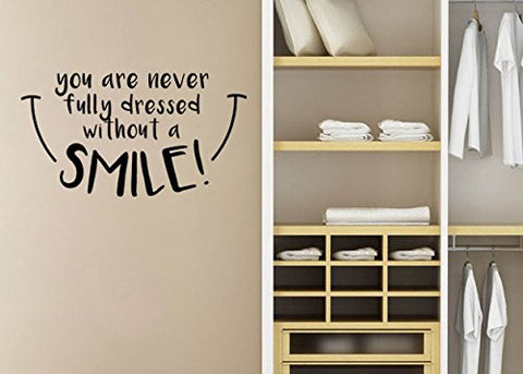 "Mary Poppins You're Never Fully Dressed Without A Smile Wall Decal Sticker 21.9""w x 12""h"