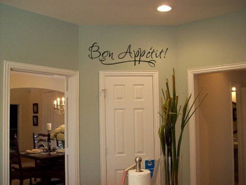 "Bon Appetit Kitchen Wall Decal Sticker 23""W x 7""H"