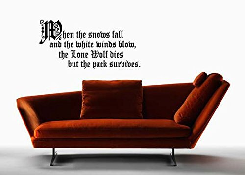 Game of Thrones Inspired Parody Lone Wolf Wall Decal Sticker