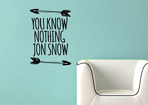 Lucky Girl Decals Wall Decor Sticker Quote Lucky Girl Decals Wall Decor Sticker Quote Game Of Thrones Inspired You Know Nothing Jon Snow Vinyl Wall Decal Sticker - Lucky Girl Decals