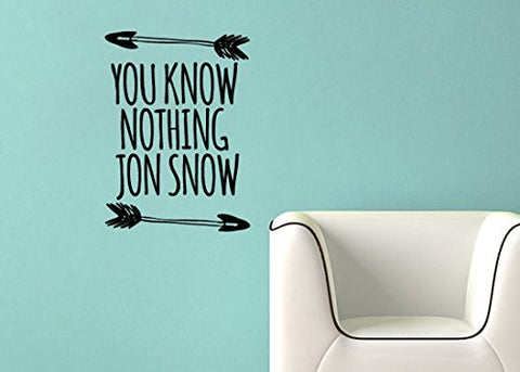"Game Of Thrones You Know Nothing Jon Snow Wall Decal Sticker 8.7""w x 12""h"