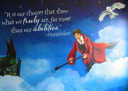Harry Potter Inspired Wall Decal Our Choices That Show What We Truly Are Dumbledore