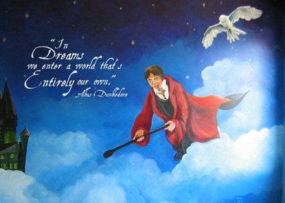 Harry Potter Inspired In Dreams We Enter A World That Is Entirely Our Own Dumbledore Wall Decal