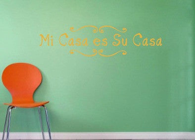 Lucky Girl Decals Wall Decor Sticker Quote Lucky Girl Decals Wall Decor Sticker Quote Mi Casa Es Su Casa Vinyl Wall Decal Sticker - Lucky Girl Decals